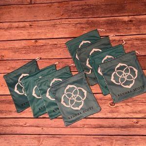 Set of Eight (8) Kendra Scott Jewelry Dust Bags